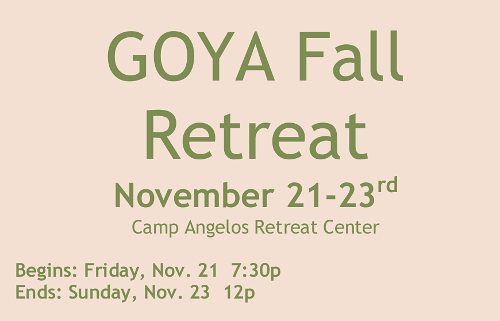 2014 Fall Retreat Flyer